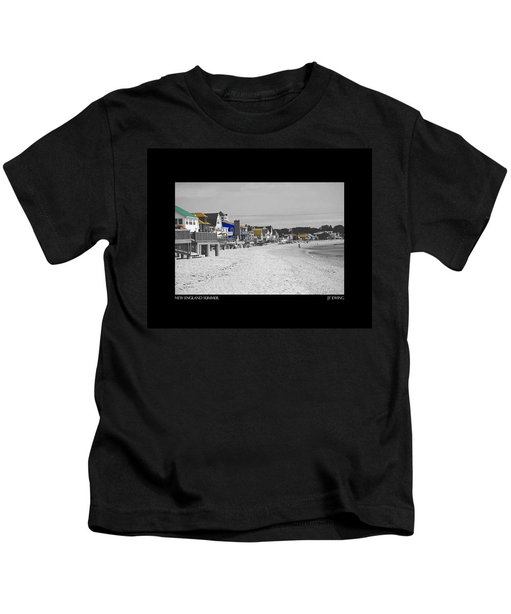 Summer Kids T-Shirt featuring the photograph New England Summer by J Todd