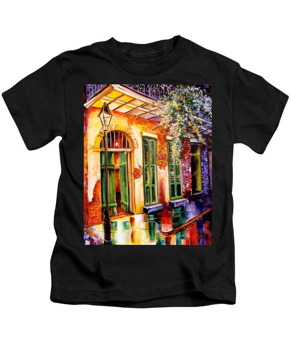 New Orleans Kids T-Shirt featuring the painting New Orleans Mystery by Diane Millsap