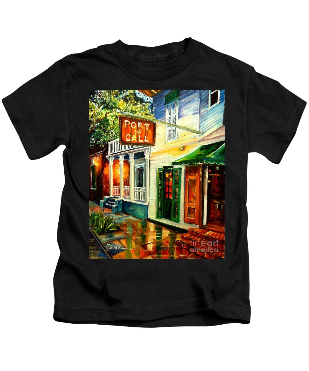 New Orleans Kids T-Shirt featuring the painting New Orleans Port Of Call by Diane Millsap