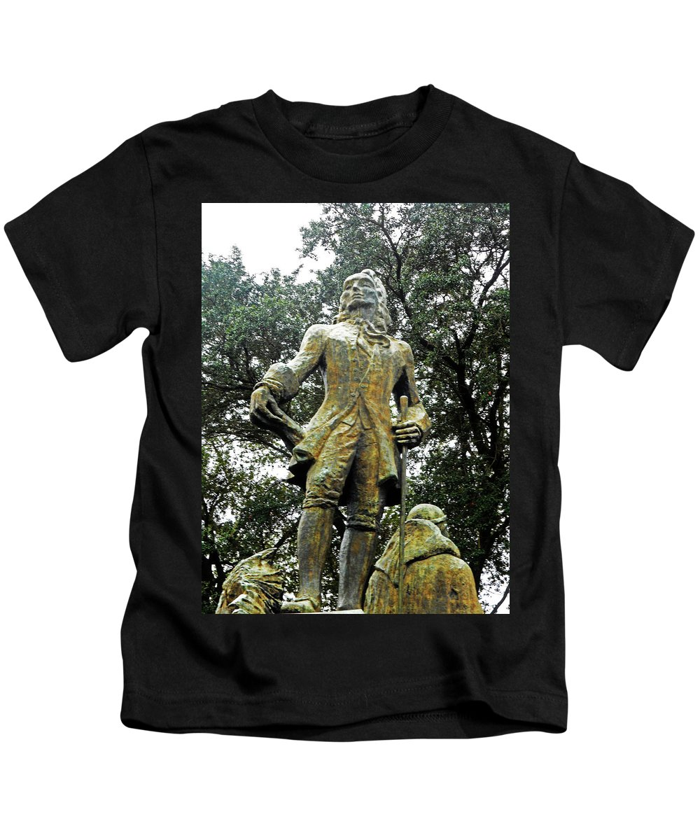 New Orleans Kids T-Shirt featuring the photograph New Orleans Statues 1 by Ron Kandt