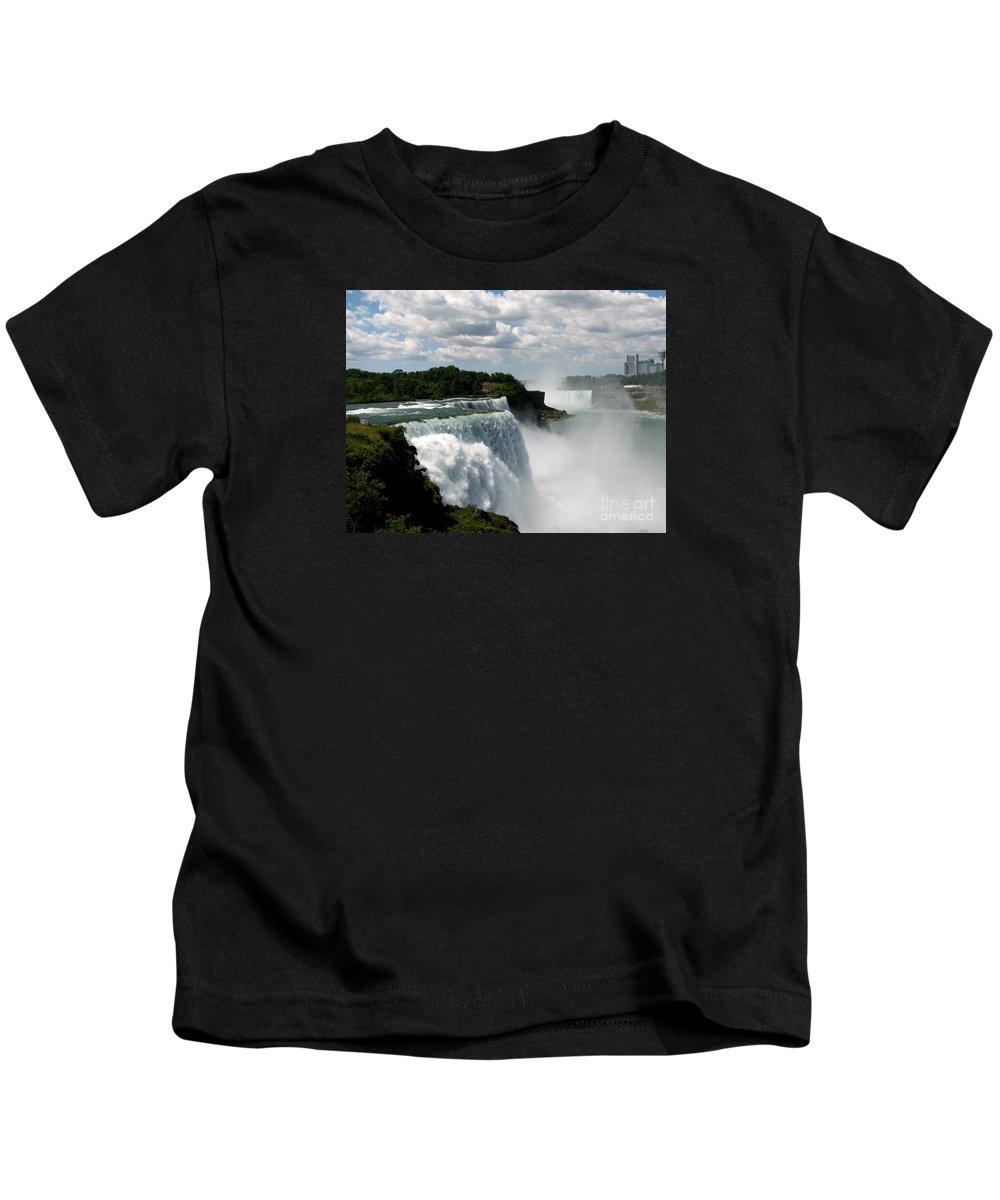 Niagara Falls Kids T-Shirt featuring the photograph Niagara Falls American And Canadian Horseshoe Falls by Rose Santuci-Sofranko