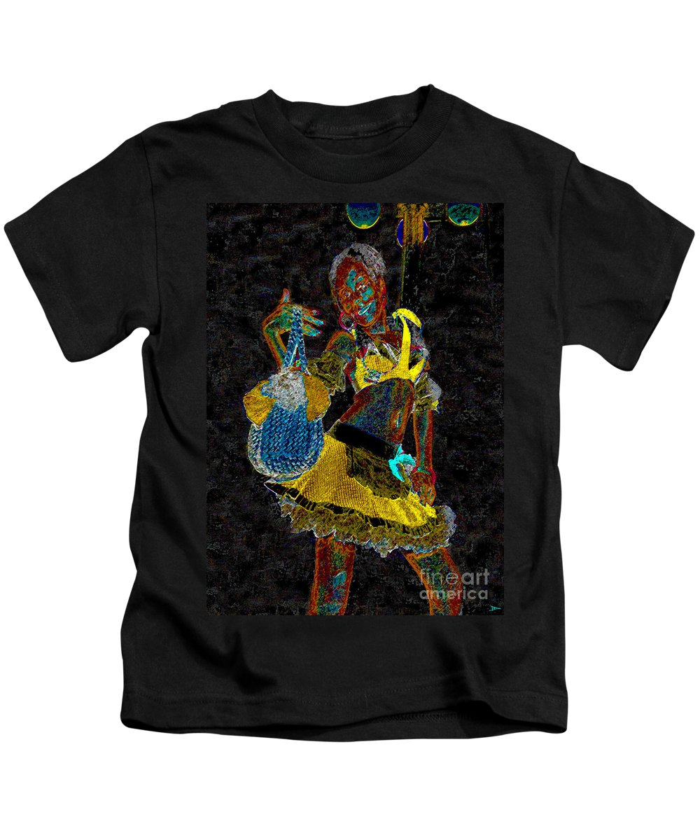 Art Kids T-Shirt featuring the painting Night Beauty by David Lee Thompson