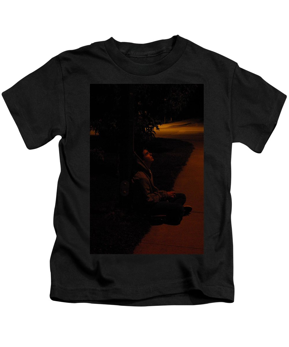Night Kids T-Shirt featuring the photograph Night Boy by Cindy Johnston