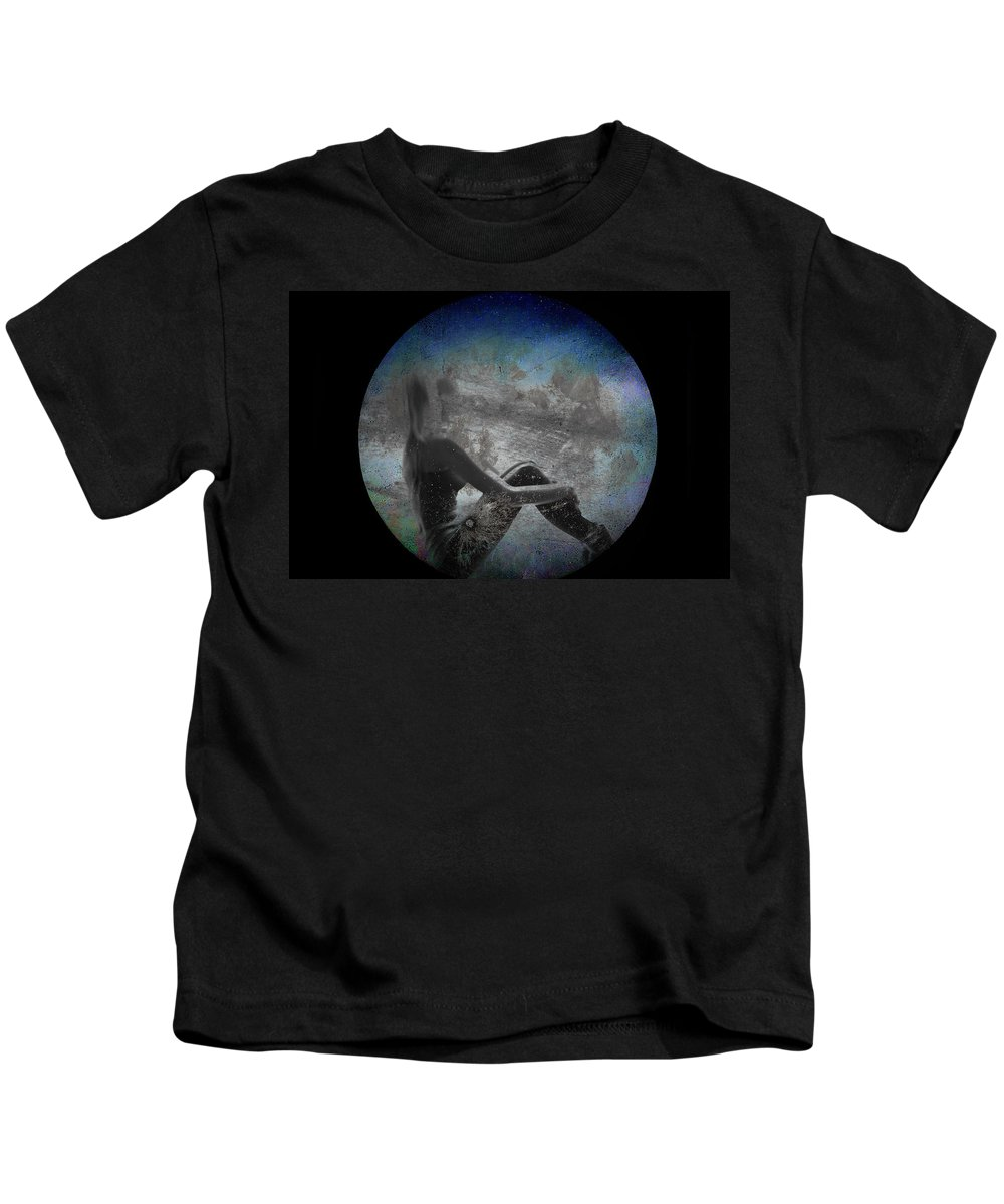 Night Kids T-Shirt featuring the photograph Night Hope V2 by Alex Art and Photo