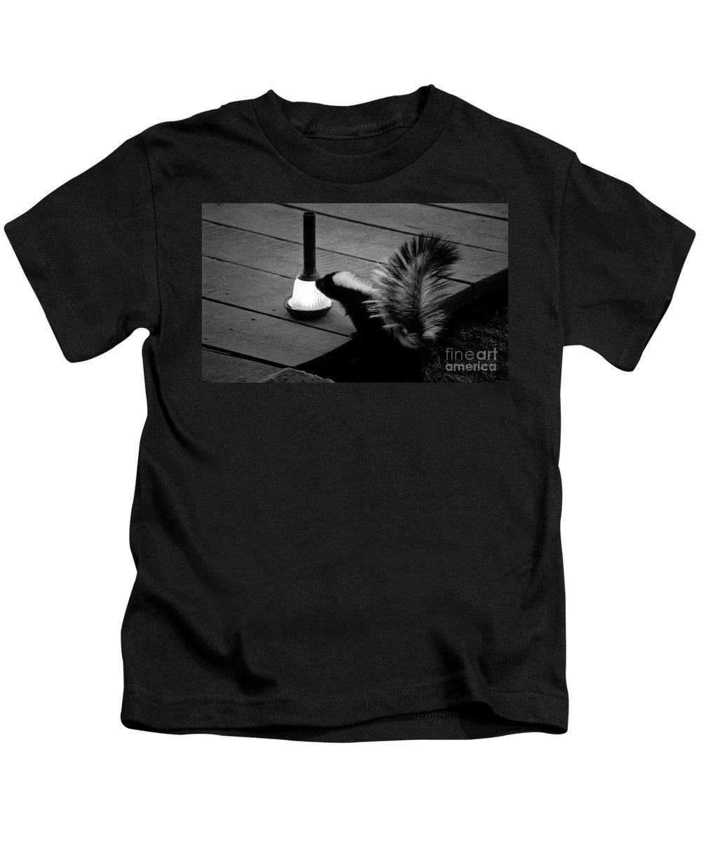 Animal Kids T-Shirt featuring the photograph Night Visitor by Wayne Heim