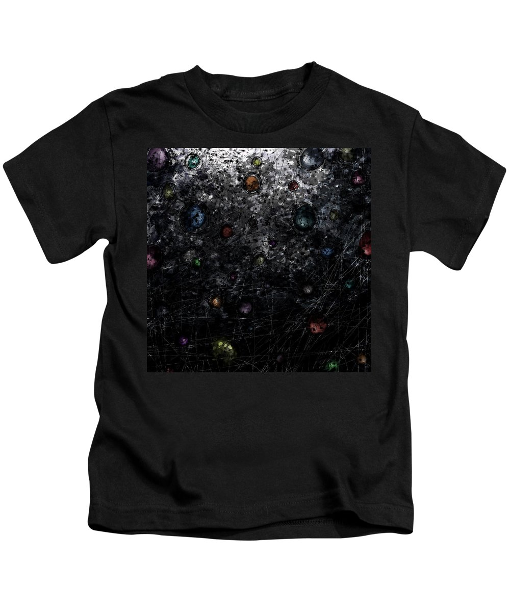 Abstract Kids T-Shirt featuring the digital art Nightmare Catcher by Rachel Christine Nowicki