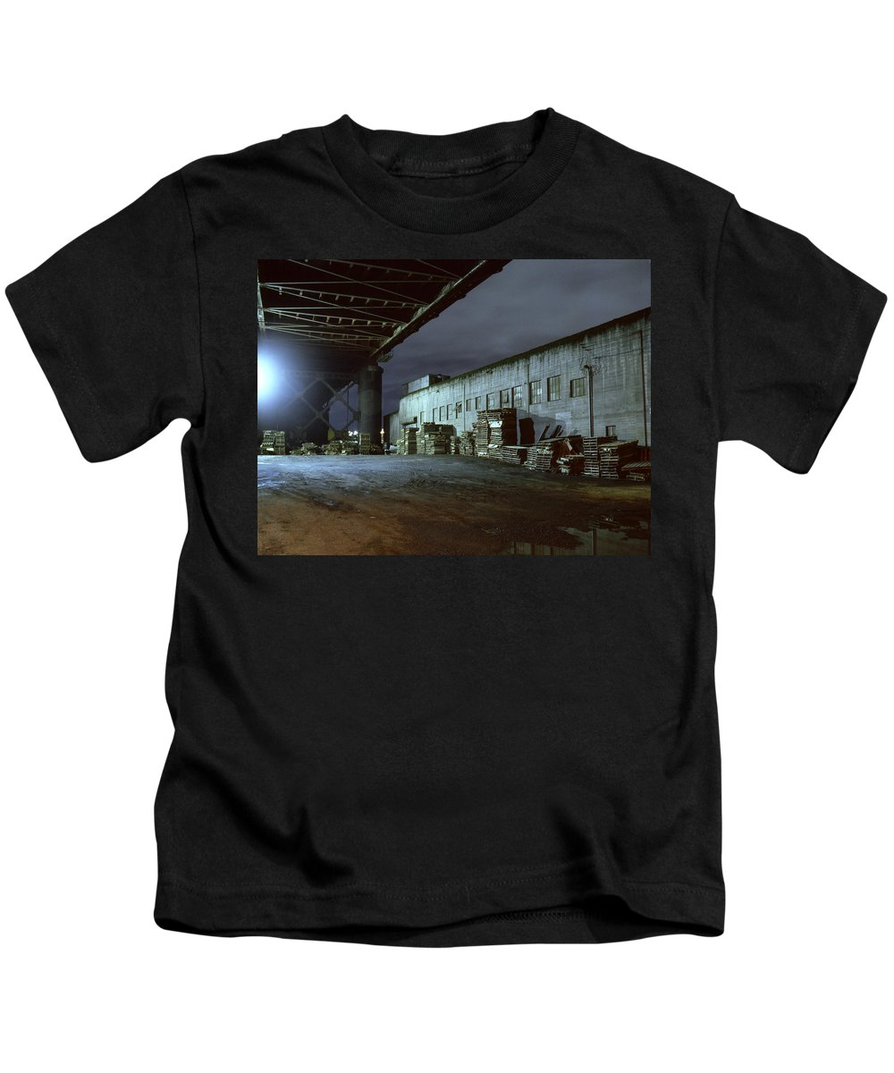 Nightscape Kids T-Shirt featuring the photograph Nightscape 1 by Lee Santa
