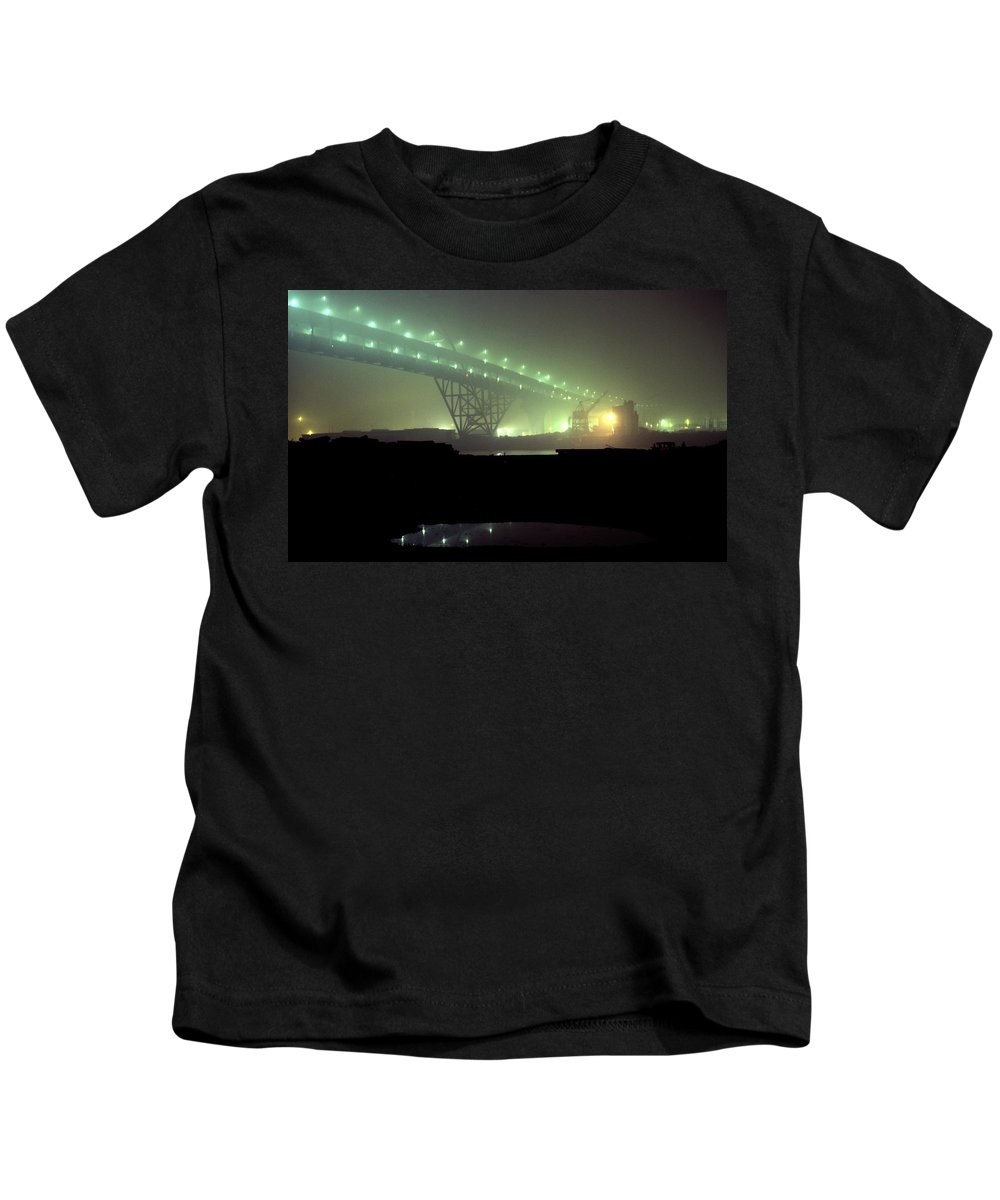 Night Photo Kids T-Shirt featuring the photograph Nightscape 3 by Lee Santa