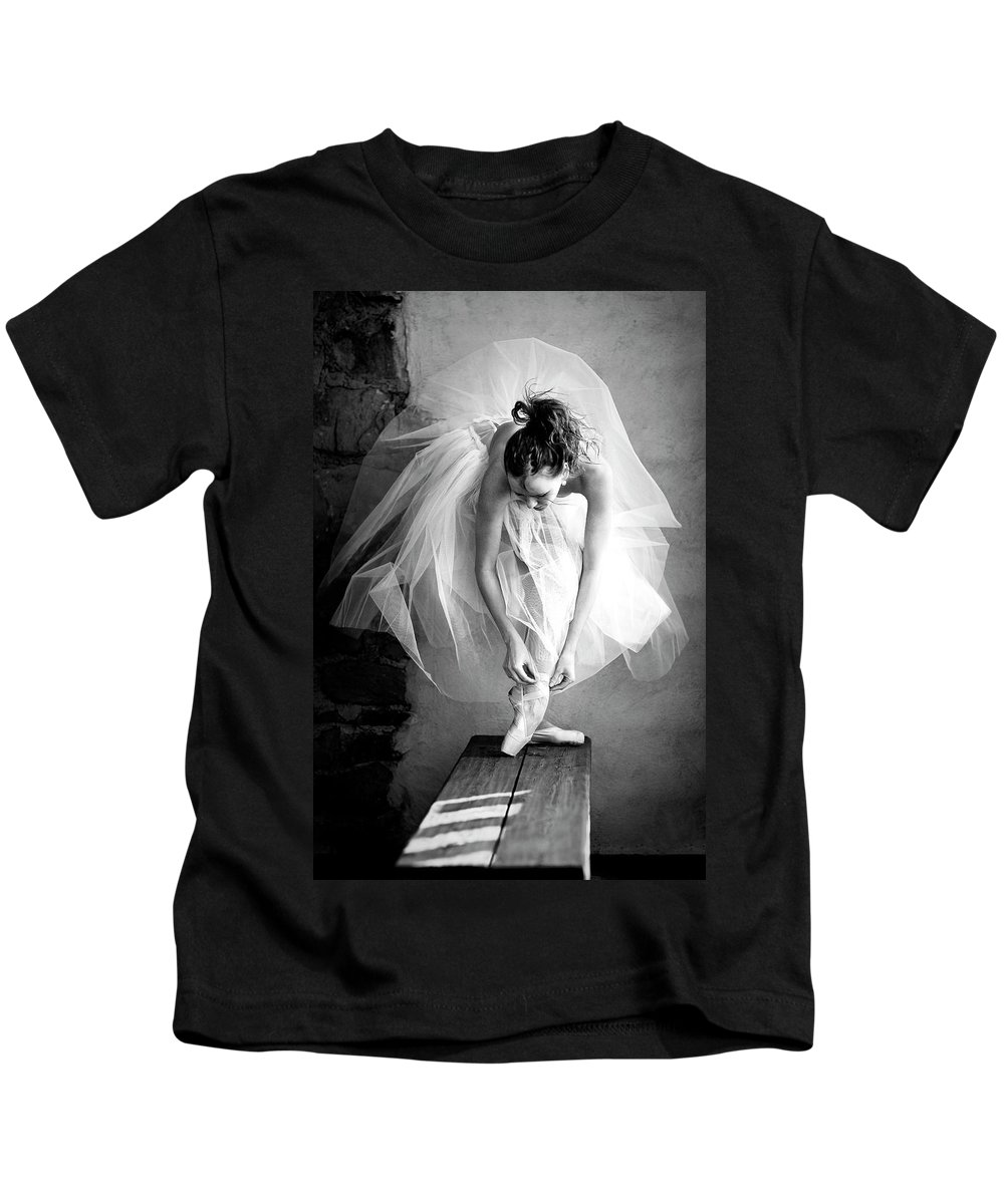 Ballet Kids T-Shirt featuring the photograph no name IV by Sofig Art Photo