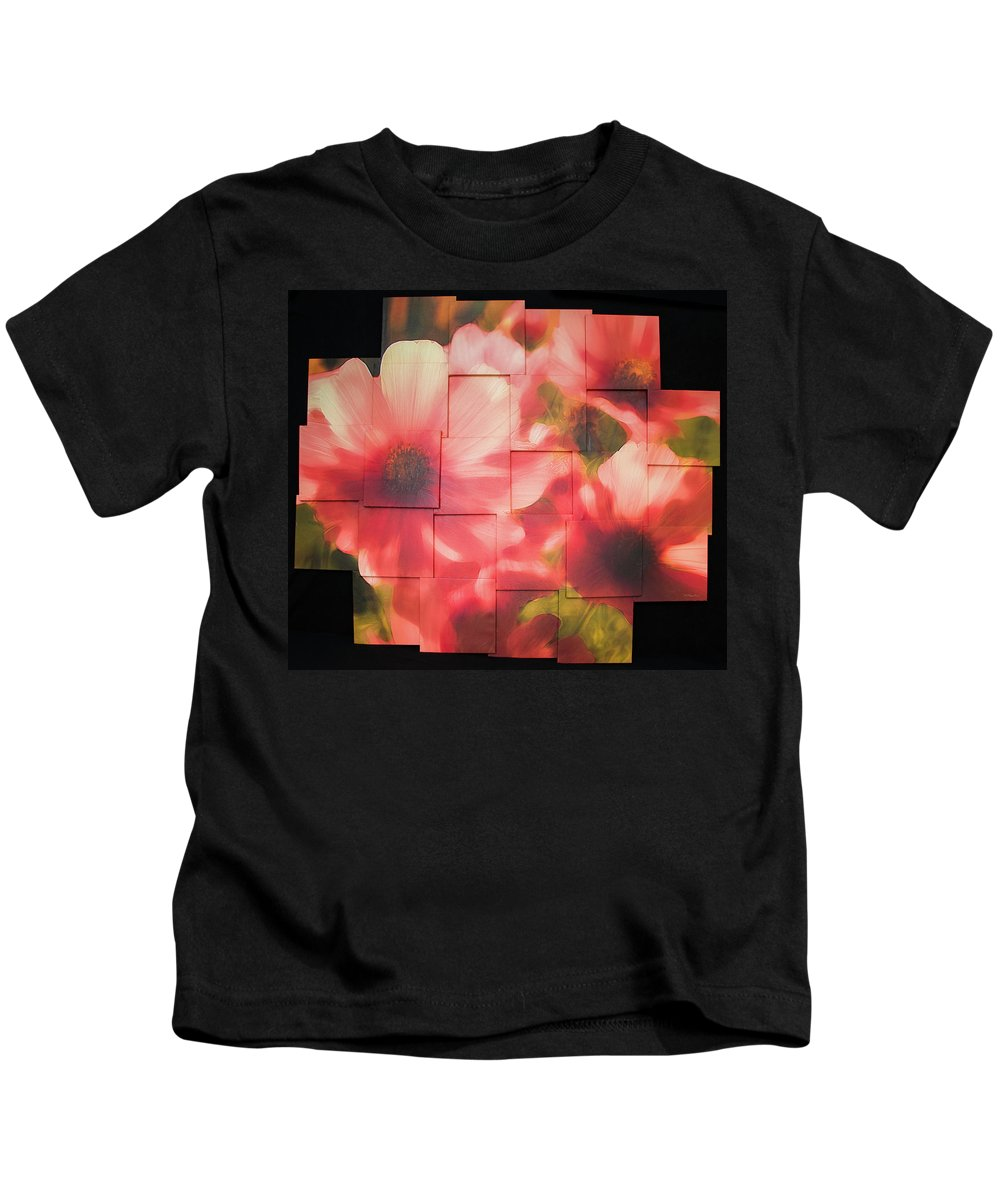 Flower Kids T-Shirt featuring the sculpture Nocturnal Pinks Photo Sculpture by Michael Bessler