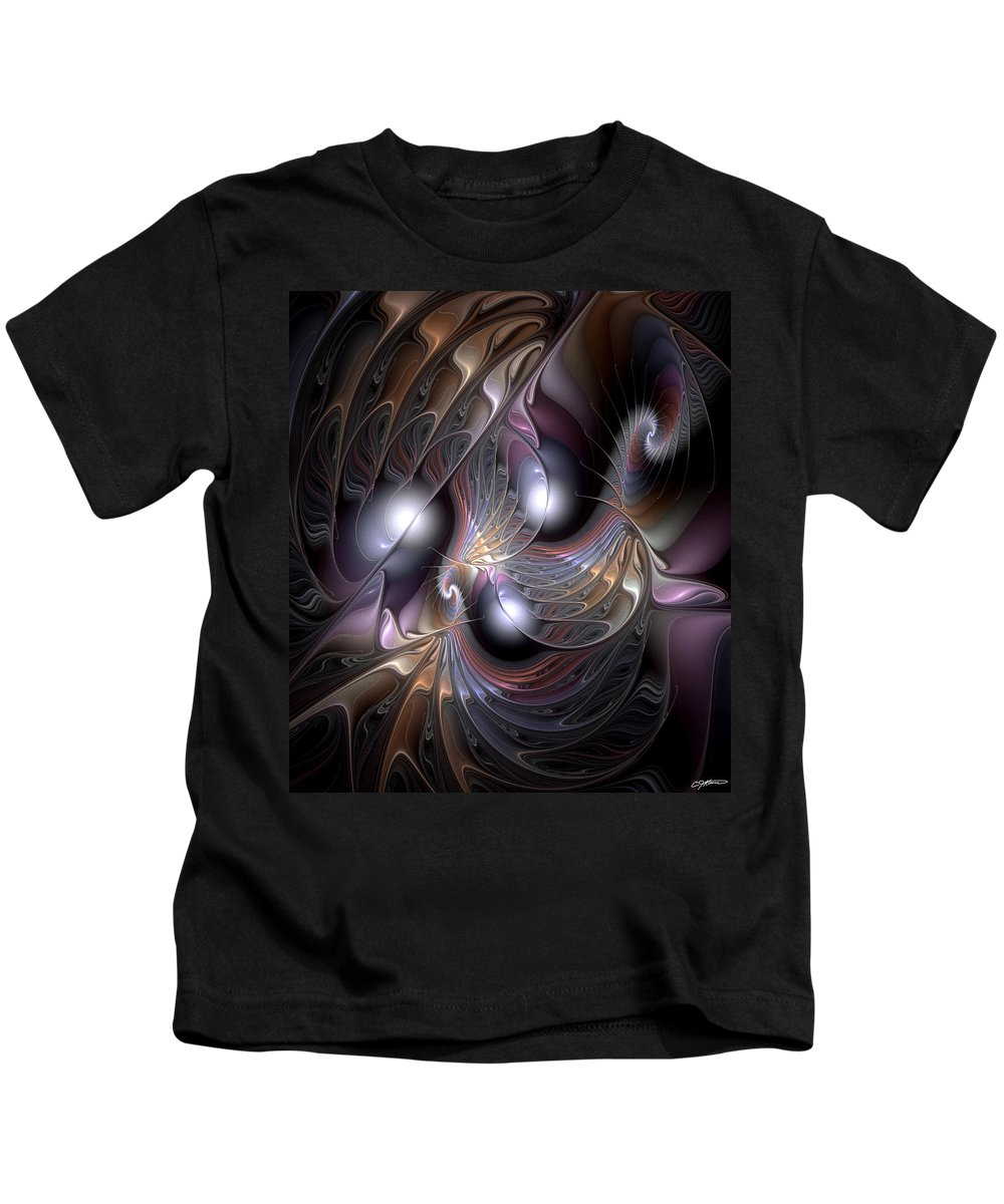 Abstract Kids T-Shirt featuring the digital art Nocturne For New Orleans by Casey Kotas