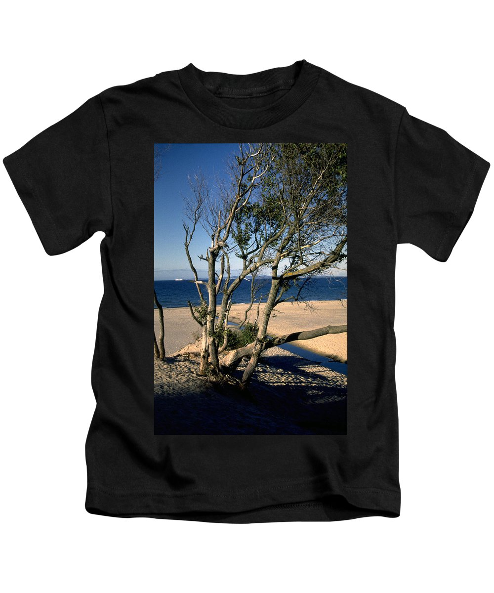 Denmark Kids T-Shirt featuring the photograph Nordic Beach by Flavia Westerwelle
