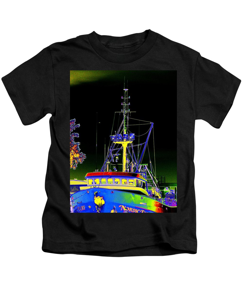 Seattle Kids T-Shirt featuring the digital art Nordic Fury by Tim Allen