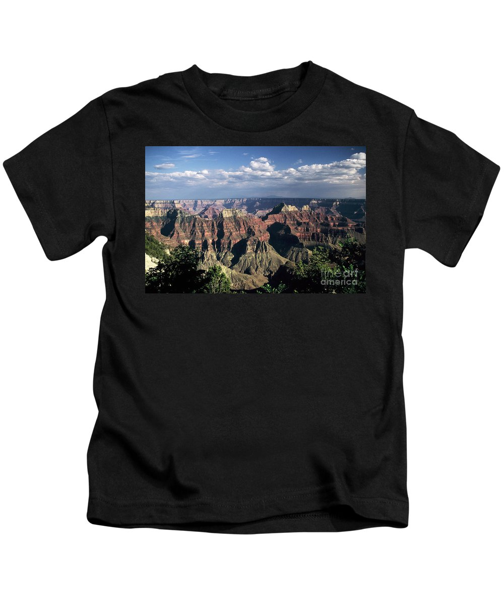 Grand Canyon; National Parks Kids T-Shirt featuring the photograph North Rim by Kathy McClure