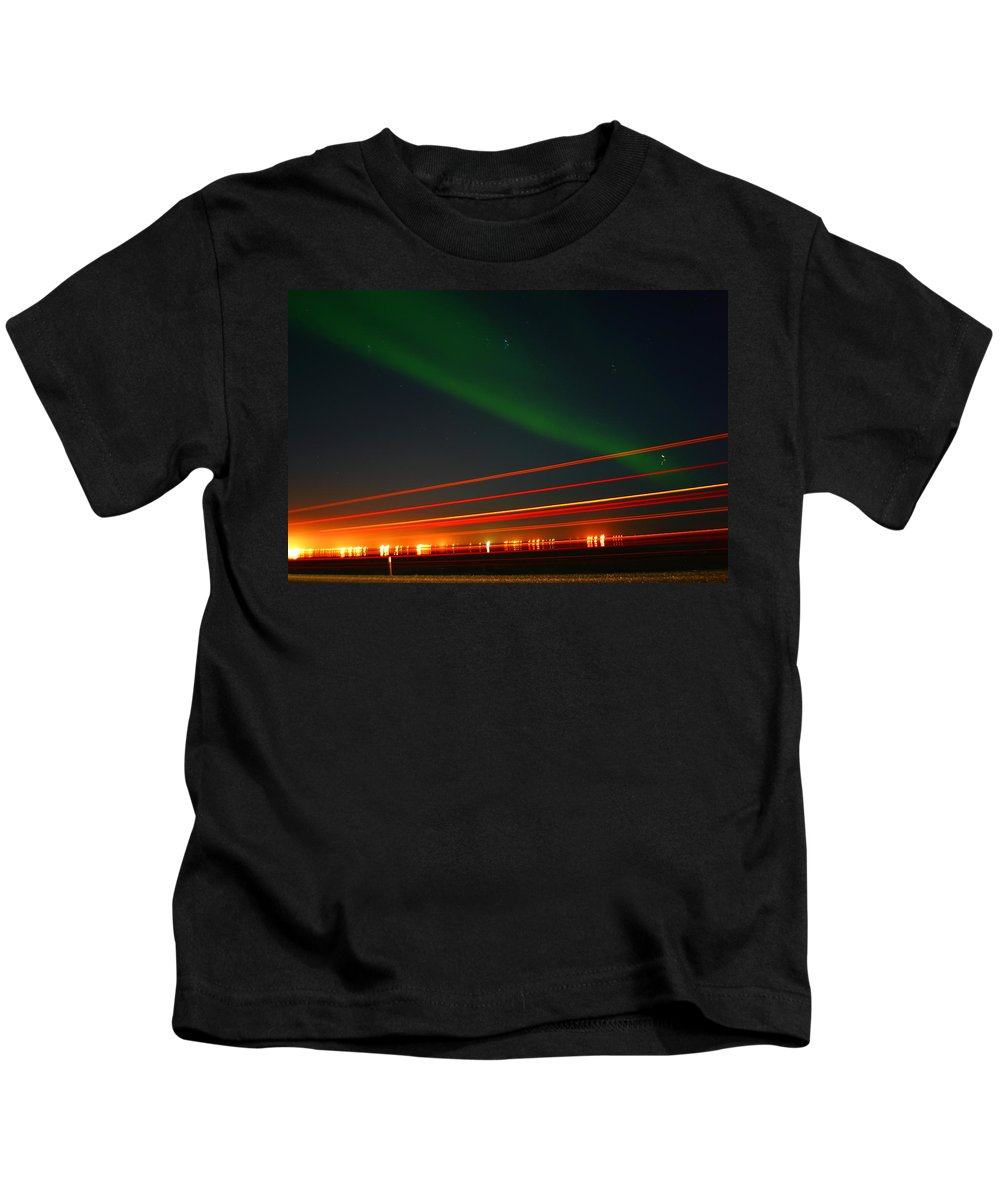 Northern Lights Kids T-Shirt featuring the photograph Northern Lights by Anthony Jones
