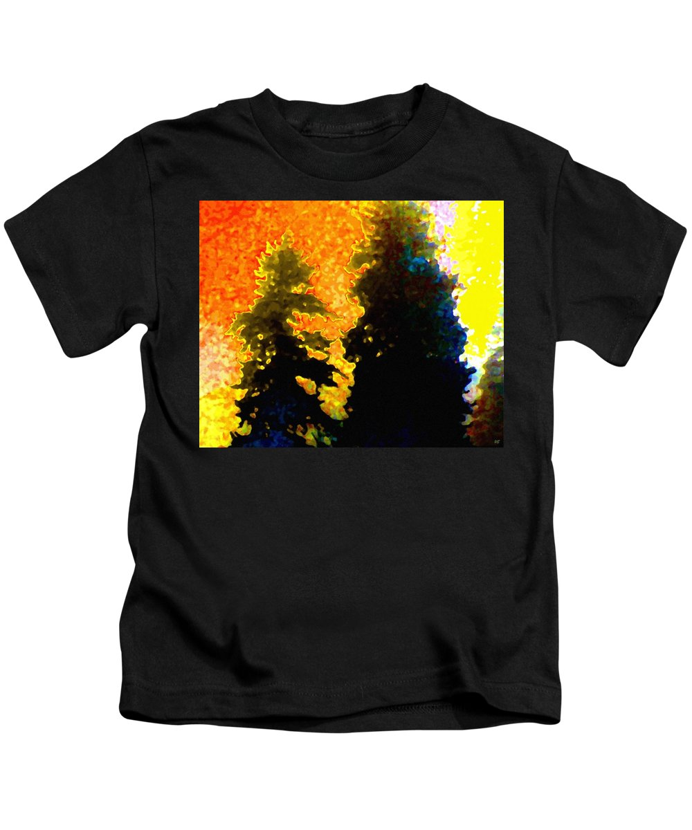 Abstract Kids T-Shirt featuring the digital art Northern Sunrise by Will Borden