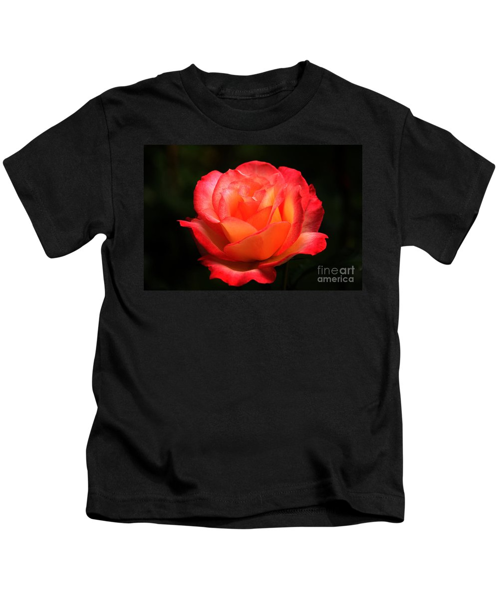 Floral Kids T-Shirt featuring the photograph Not A Second Hand Rose by James Eddy