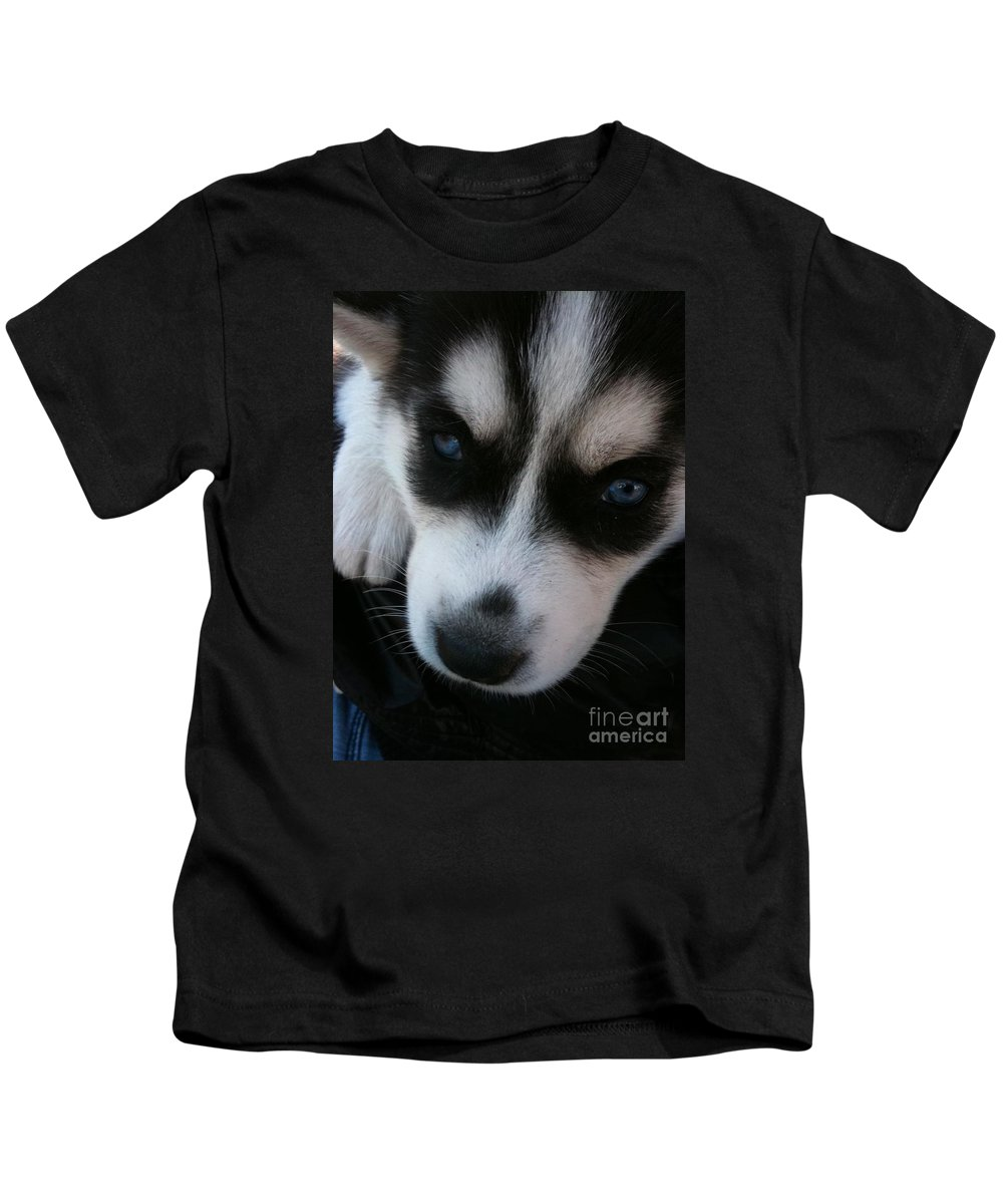 Dog Kids T-Shirt featuring the photograph Not In A Good Mood by Vesna Antic