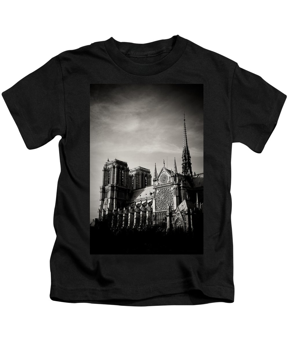 Paris Kids T-Shirt featuring the photograph Notre Dame II by Olivier De Rycke