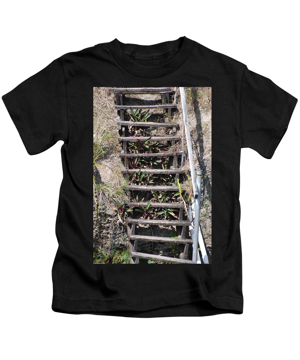 Stairs Kids T-Shirt featuring the photograph Nowhere Stairs by Rob Hans