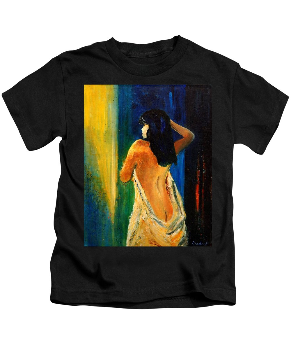 Girl Kids T-Shirt featuring the painting Nude 459070 by Pol Ledent