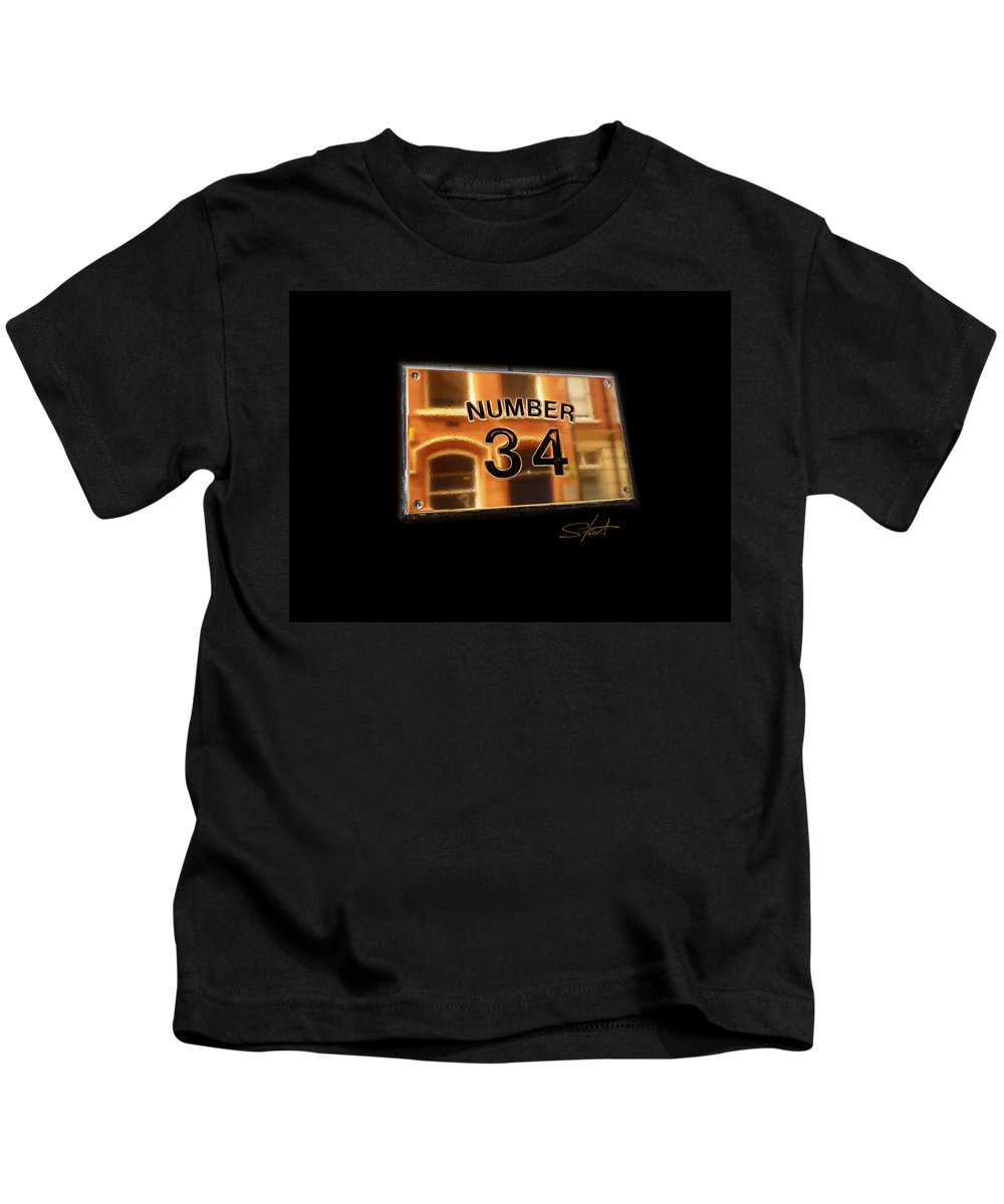 Number Kids T-Shirt featuring the photograph Number 34 by Charles Stuart