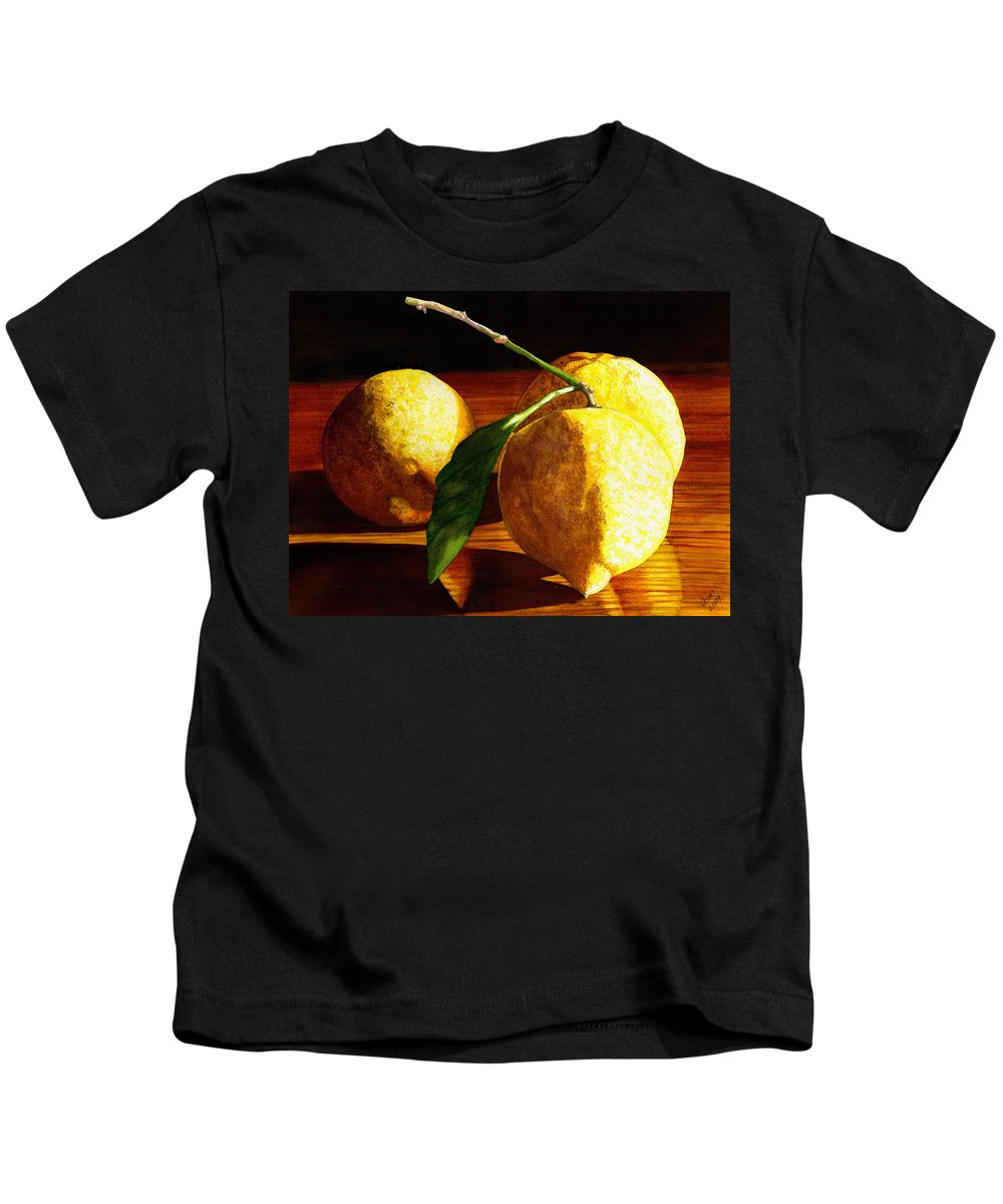 Lemon Kids T-Shirt featuring the painting Nurse Beckys Lemons by Catherine G McElroy