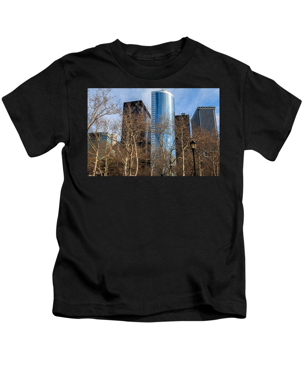 Cityscape Kids T-Shirt featuring the photograph NYC by Luis Feairn