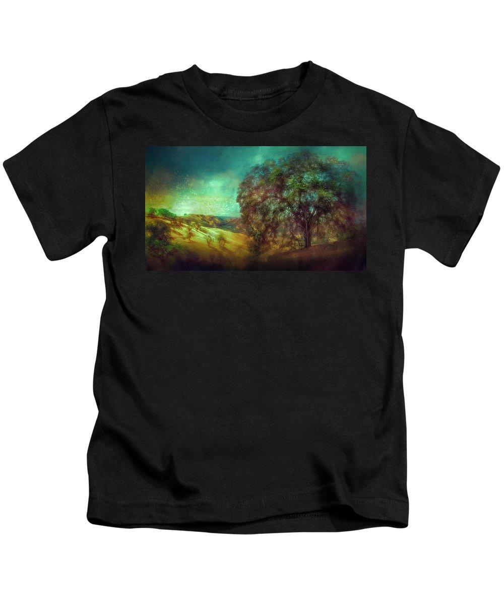 Landscape Kids T-Shirt featuring the photograph Oak Art by Laura Macky