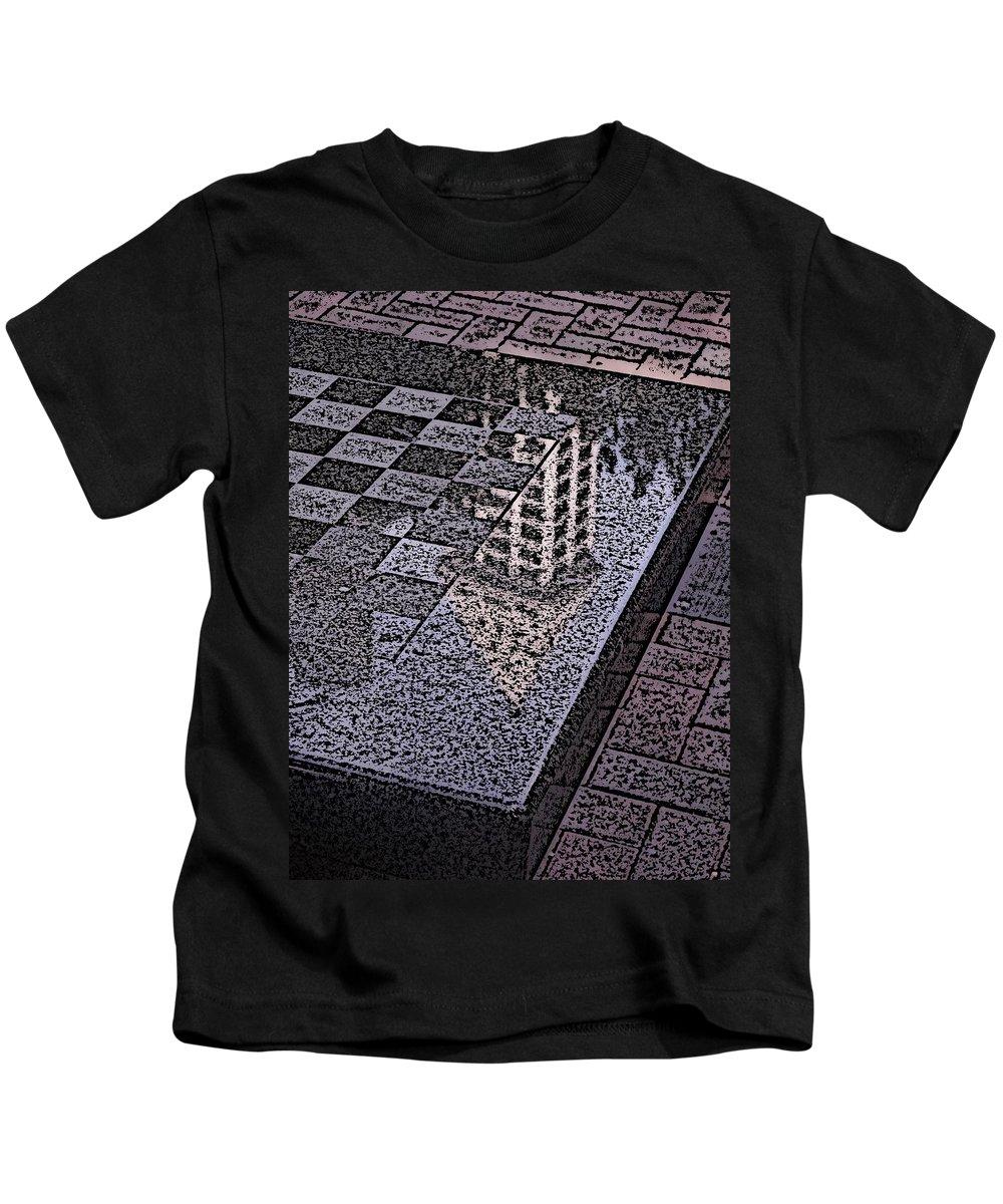 Seattle Kids T-Shirt featuring the digital art Occidental Park Checkerboard by Tim Allen