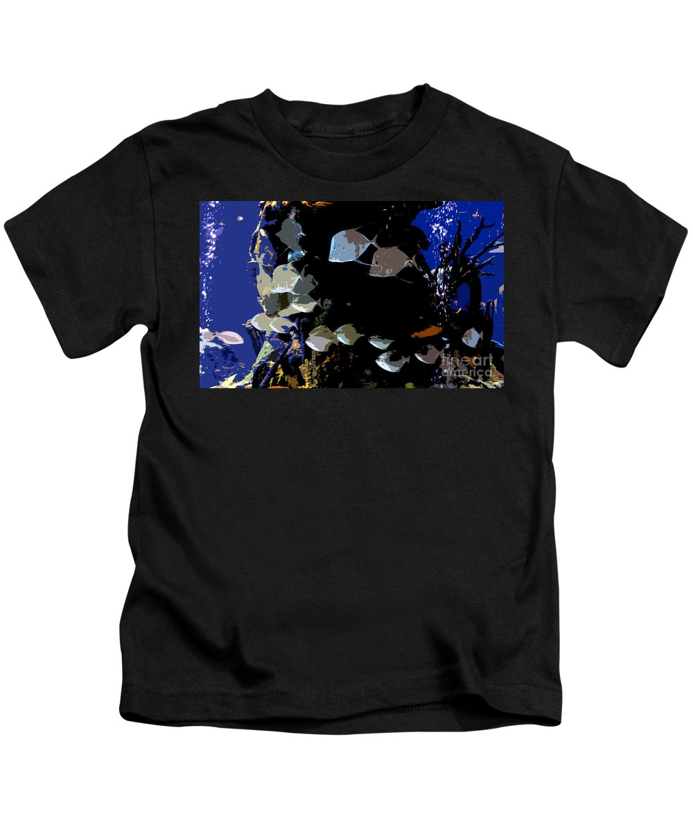 Ocean Kids T-Shirt featuring the painting Ocean Blue by David Lee Thompson