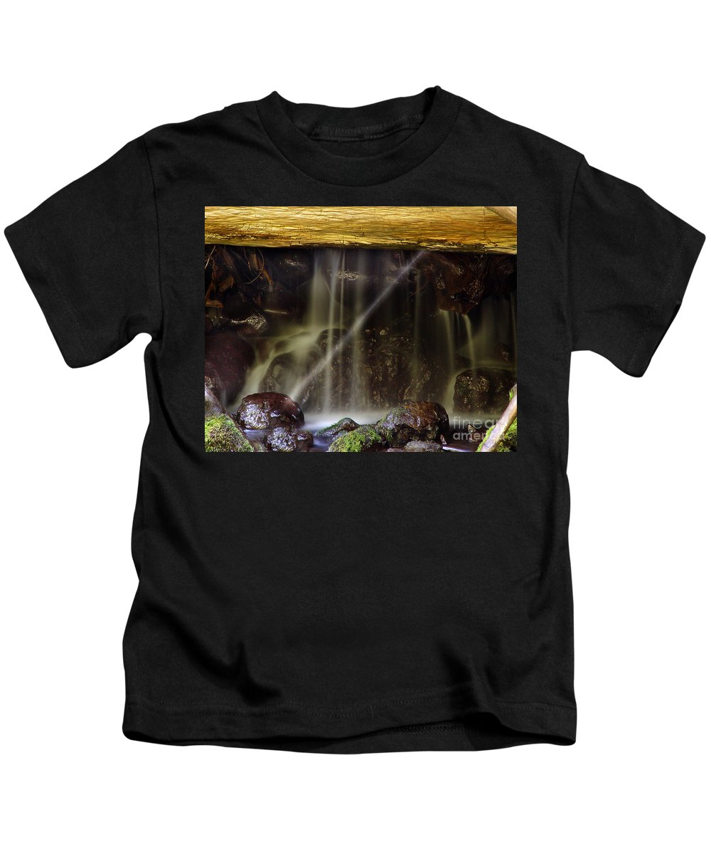 Water Trickle Kids T-Shirt featuring the photograph Of Light And Mist by Peter Piatt