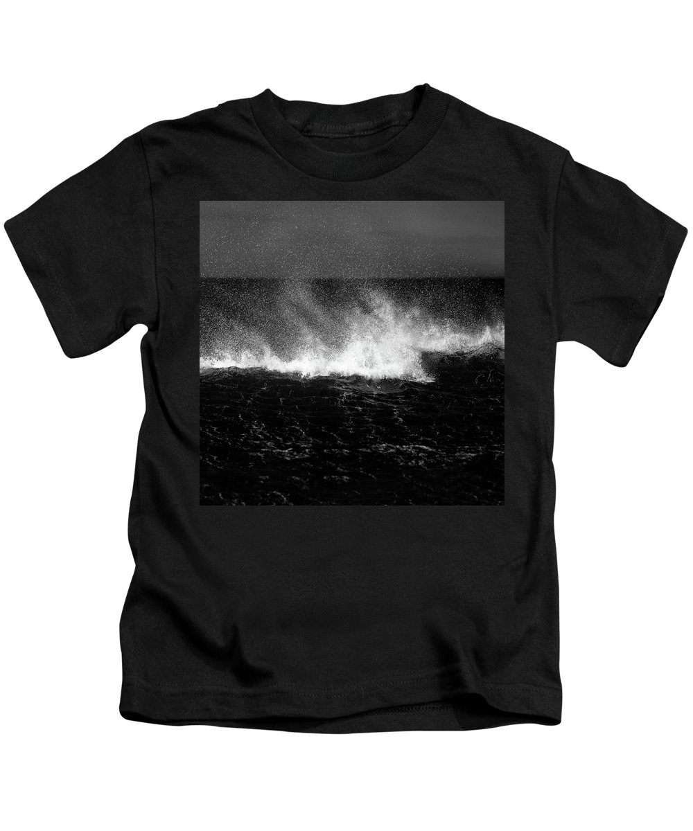 Waves Kids T-Shirt featuring the photograph Offshore by Dave Bowman