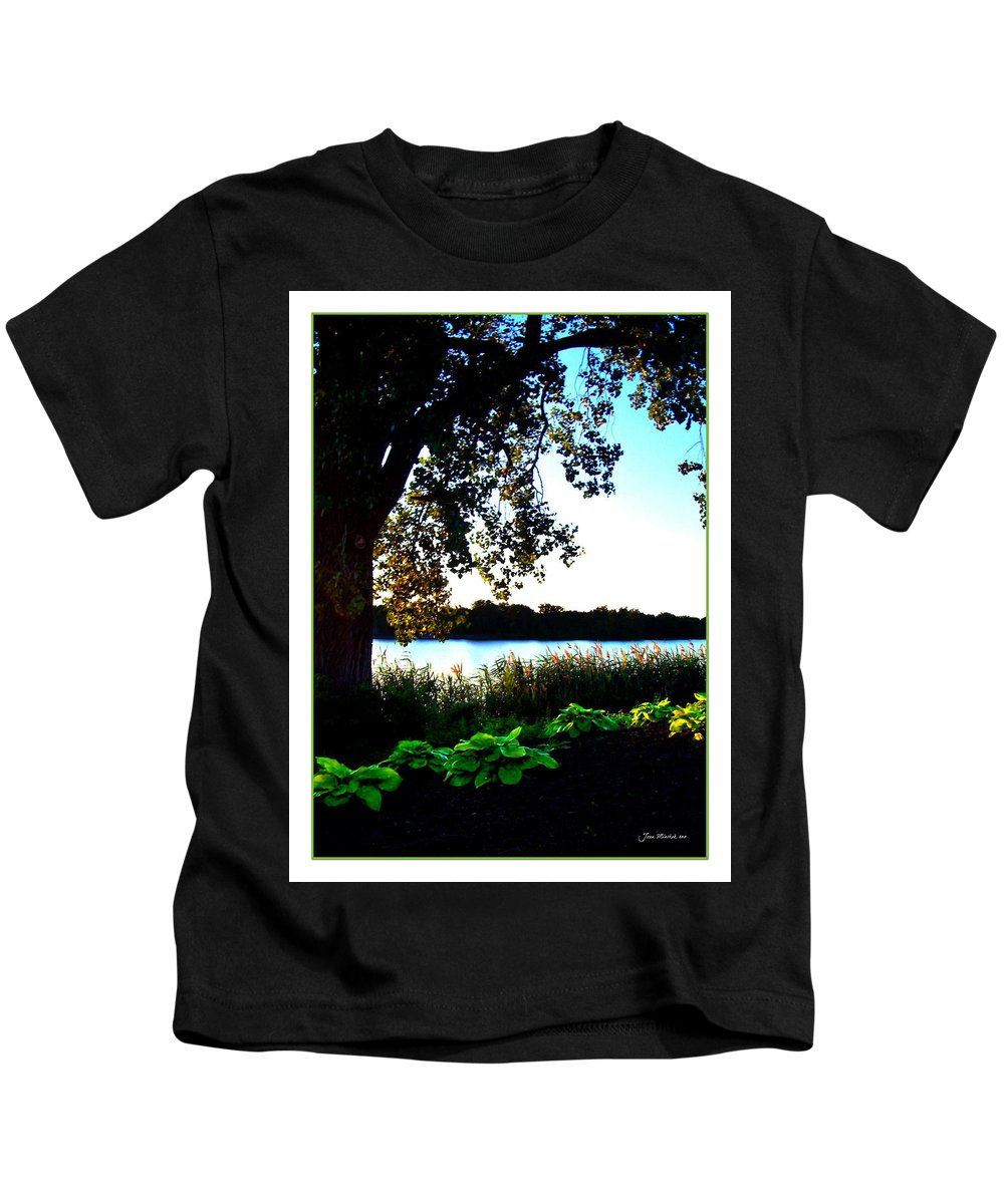 Blue Kids T-Shirt featuring the photograph Ohio Pond by Joan Minchak