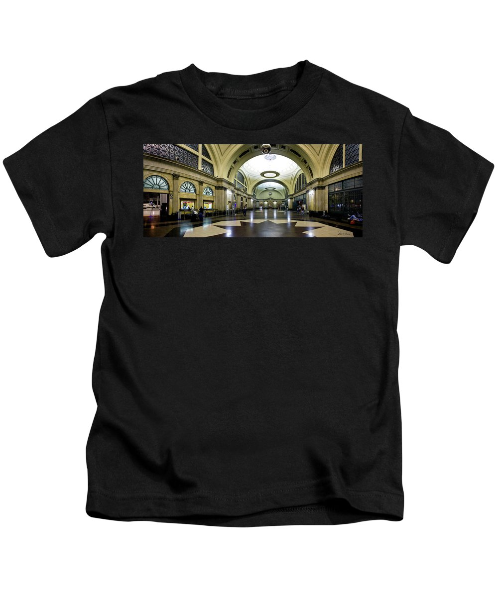 Photography Kids T-Shirt featuring the photograph Old Barcelona Train Station by Frederic A Reinecke