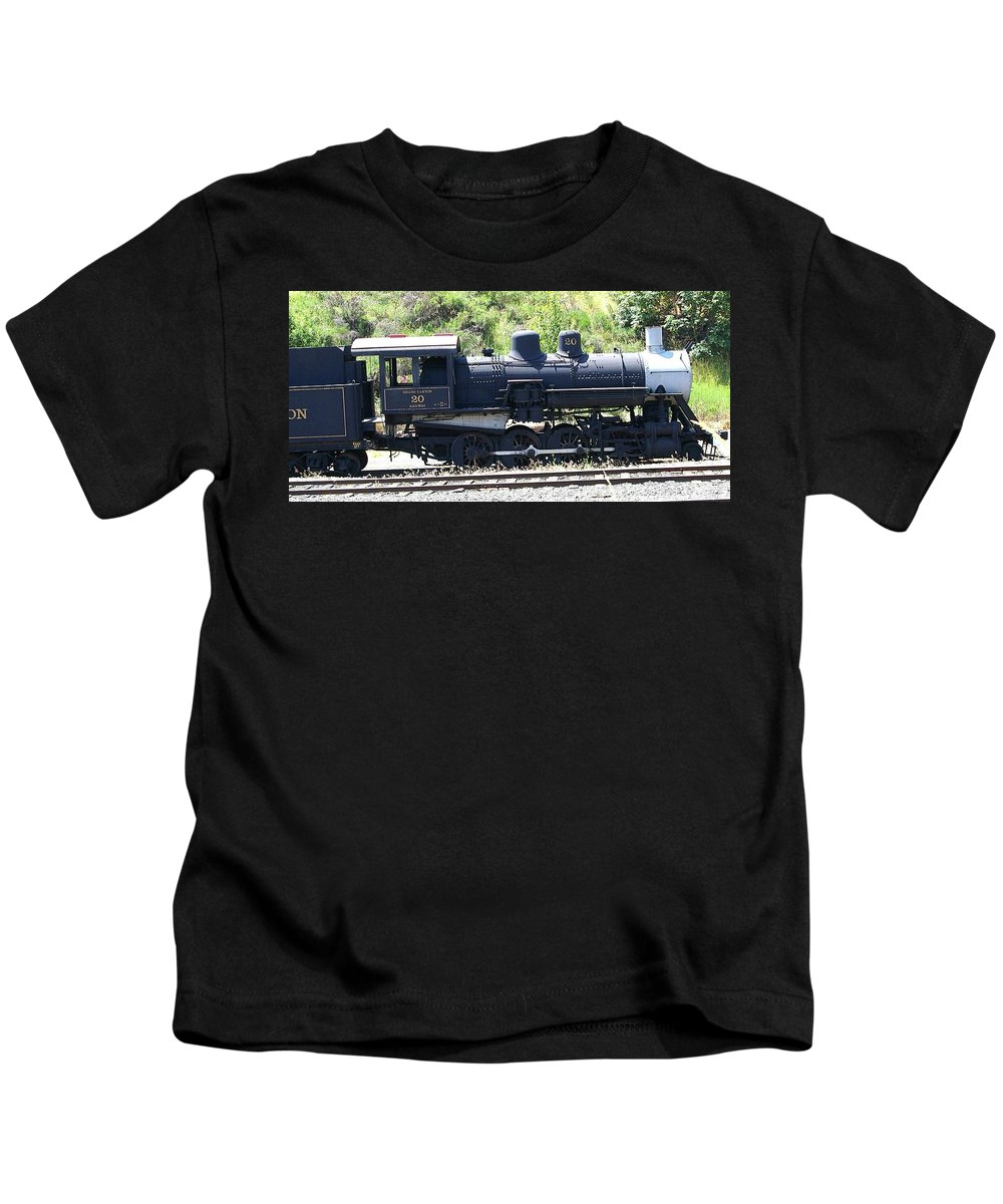 Trains Kids T-Shirt featuring the photograph Old Choo Choo by Jeff Swan