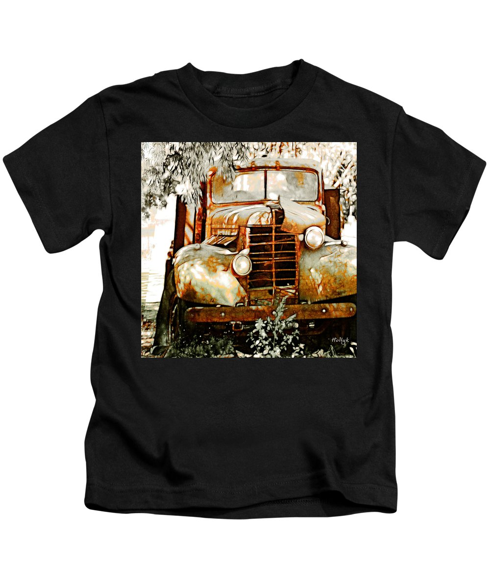 Transportation Kids T-Shirt featuring the photograph Old Memories Never Die by Holly Kempe