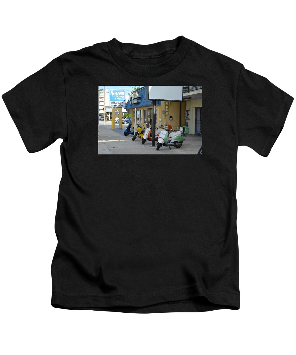 Motorcycles Kids T-Shirt featuring the photograph Old Motorcycles by Edgar Soto