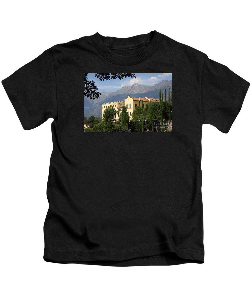 Palace Kids T-Shirt featuring the photograph Old Palace Trauttmansdorf by Christiane Schulze Art And Photography
