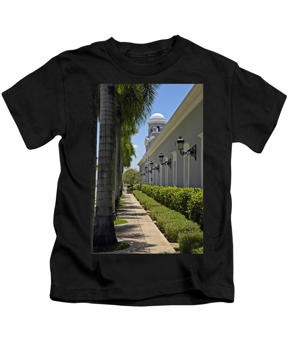 Travel Kids T-Shirt featuring the photograph Old San Juan Puerto Rico by Tito Santiago