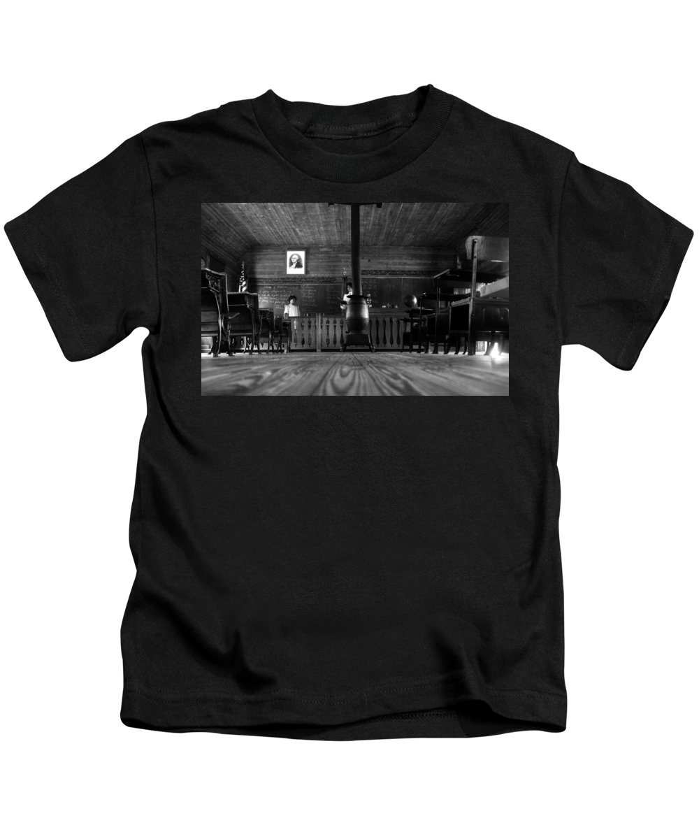 School House Kids T-Shirt featuring the photograph Old School by David Lee Thompson