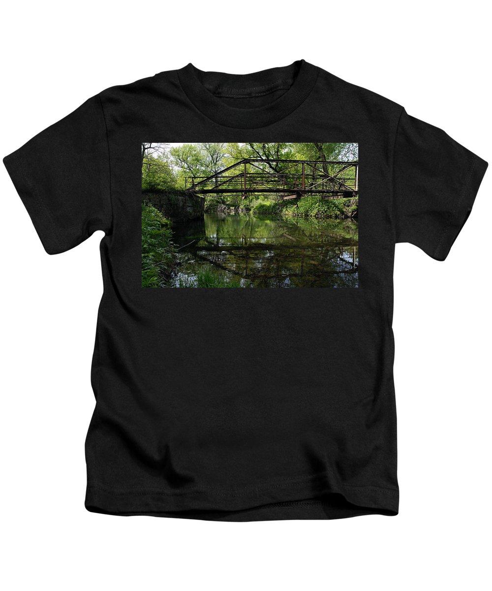 Trestle Bridge Kids T-Shirt featuring the photograph Old Trestle Bridge by Larry Ricker