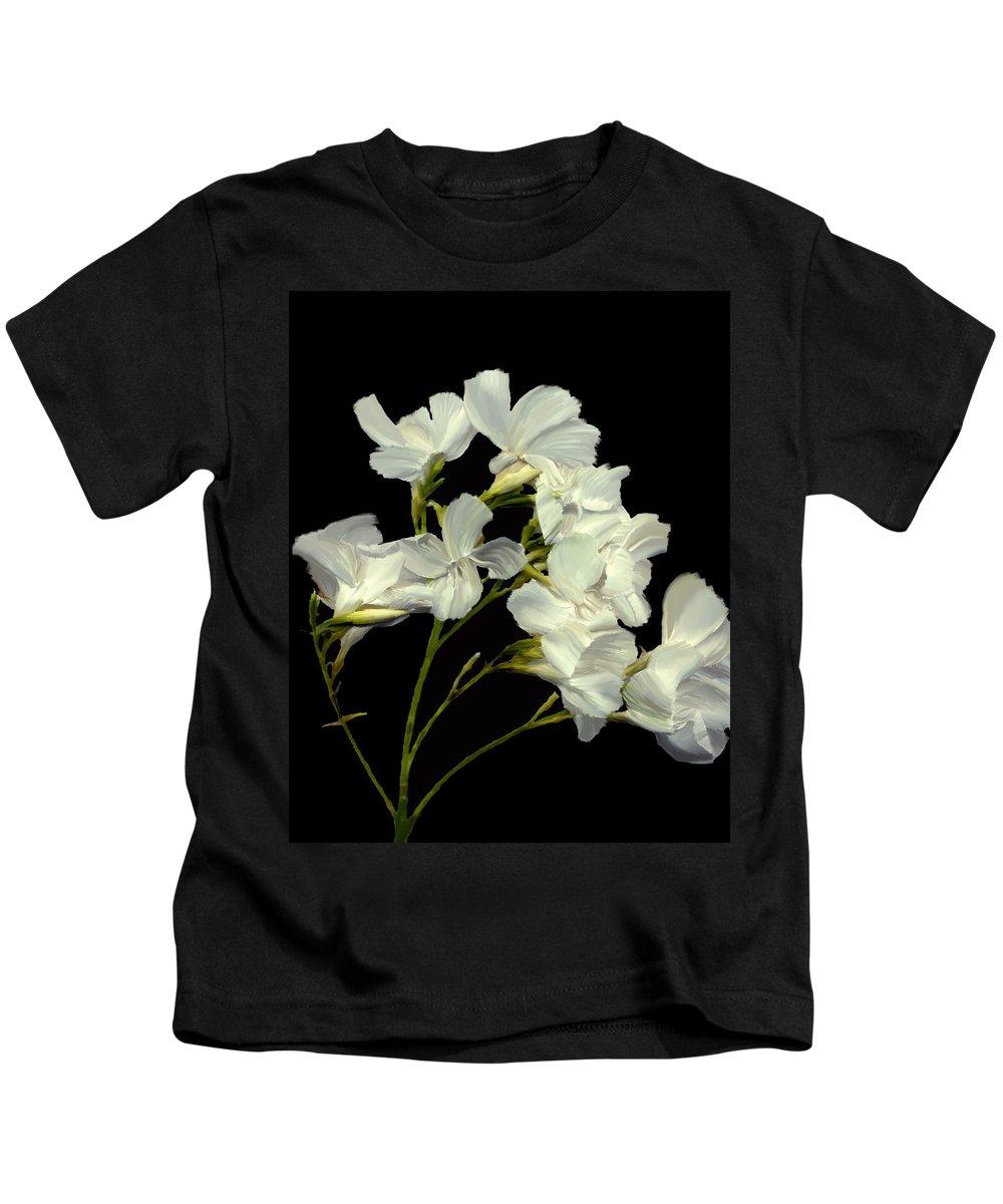 Flowers Kids T-Shirt featuring the photograph Oleander by Kurt Van Wagner