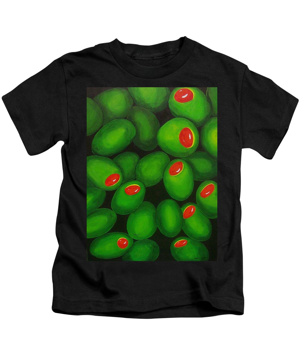 Olive Kids T-Shirt featuring the painting Olives by Micah Guenther