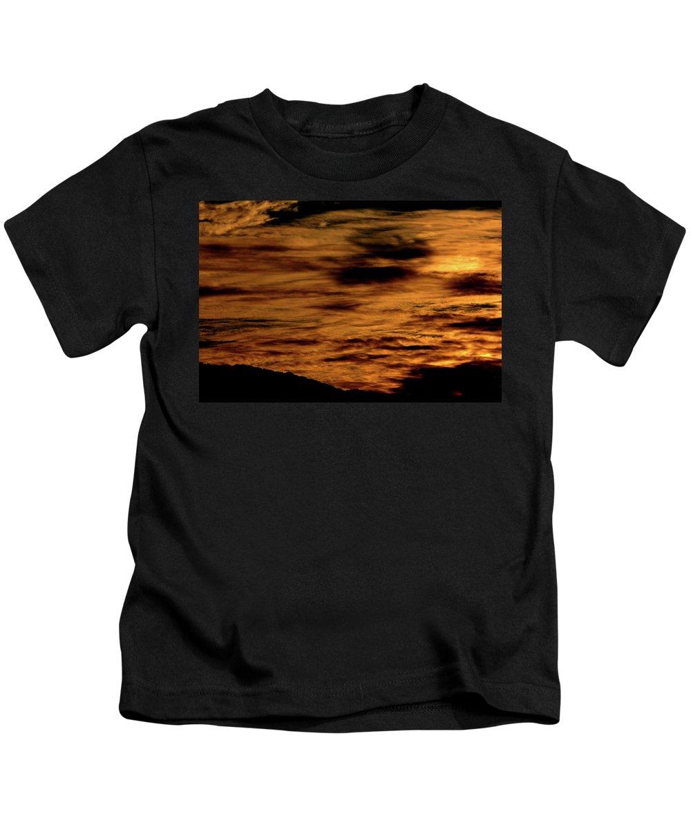 Sunset Kids T-Shirt featuring the photograph Ominous Orange by Pauline Darrow
