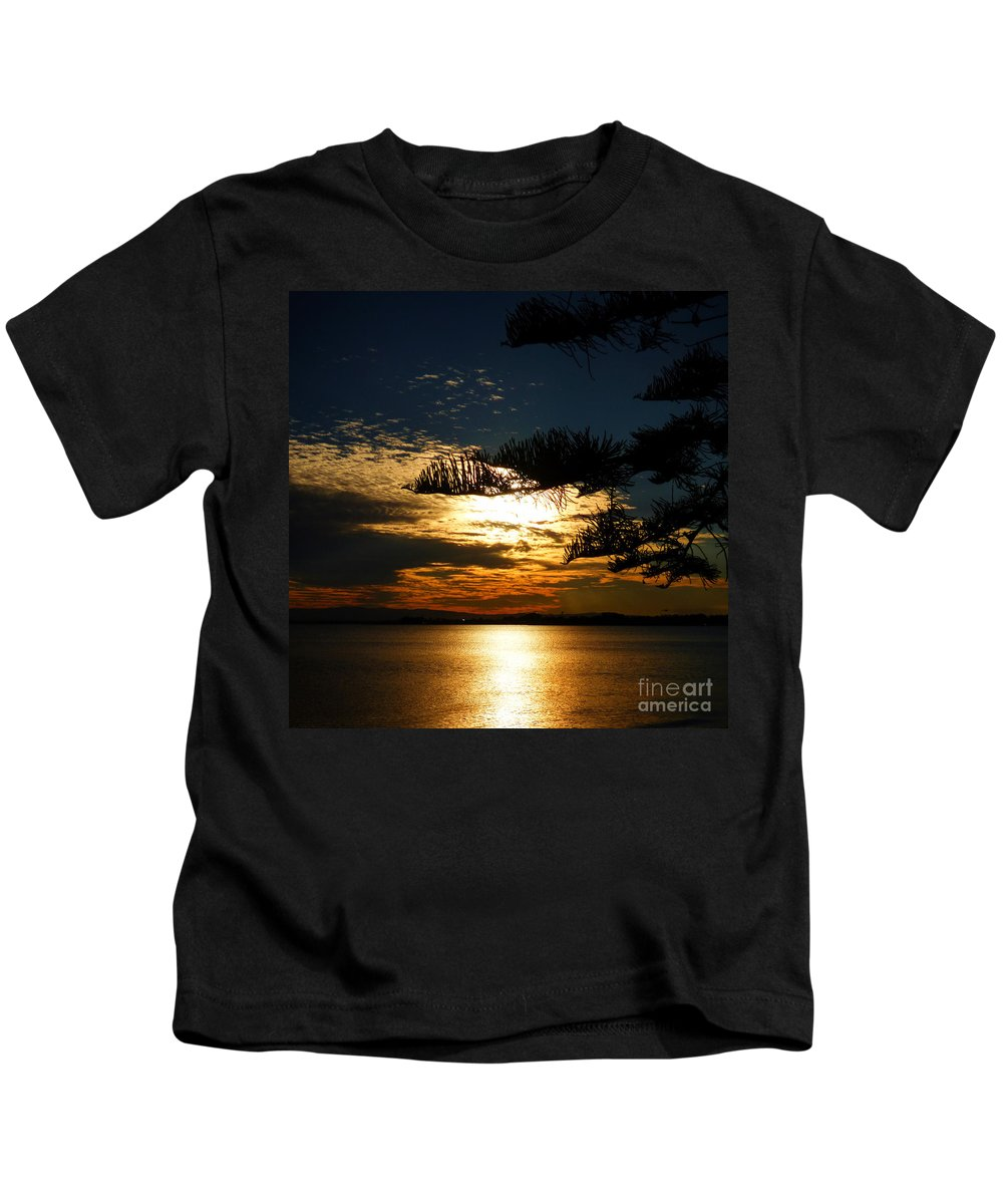 Golden Moments Kids T-Shirt featuring the photograph Golden Moments by Trudee Hunter