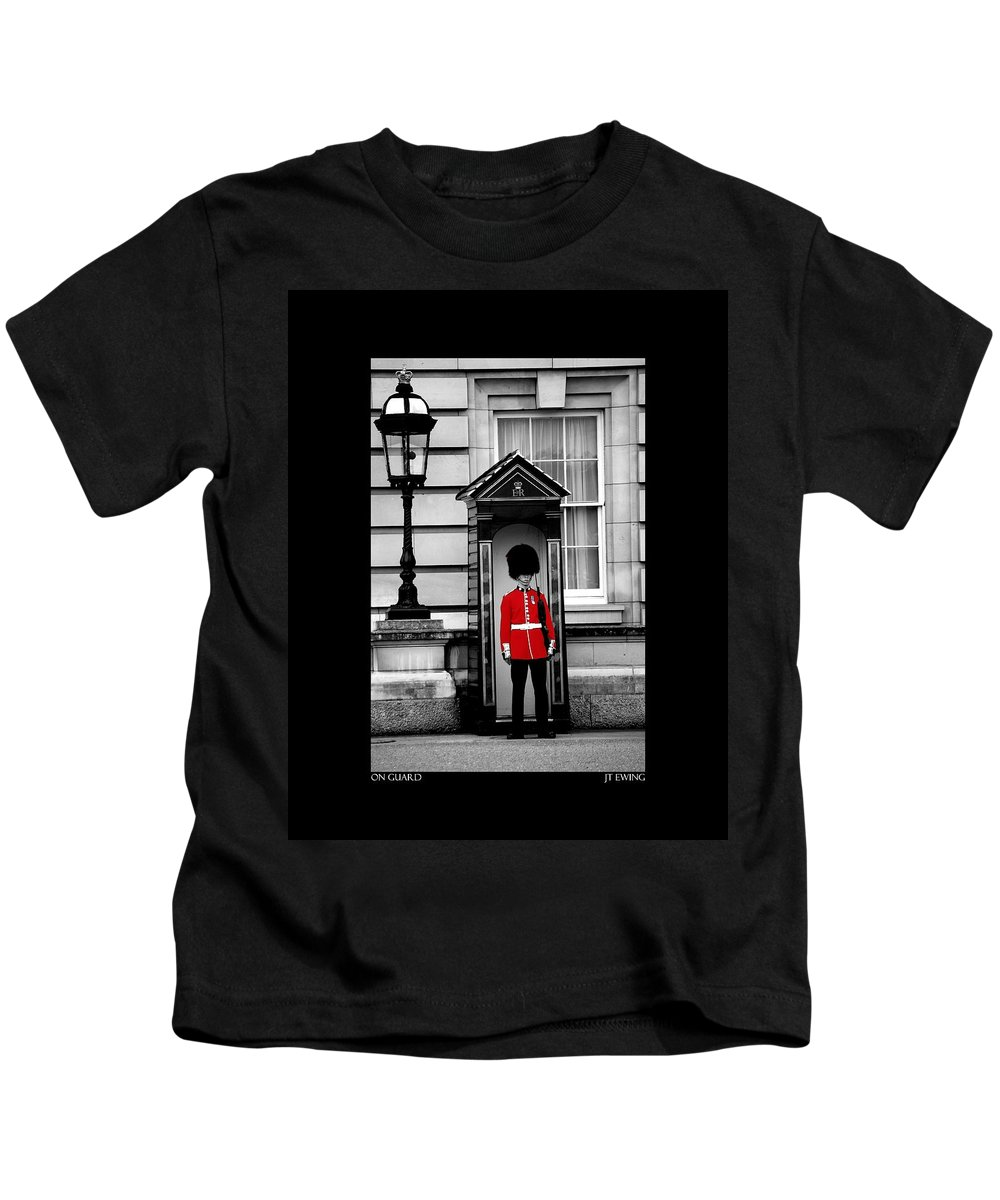 London Kids T-Shirt featuring the photograph On Guard by J Todd