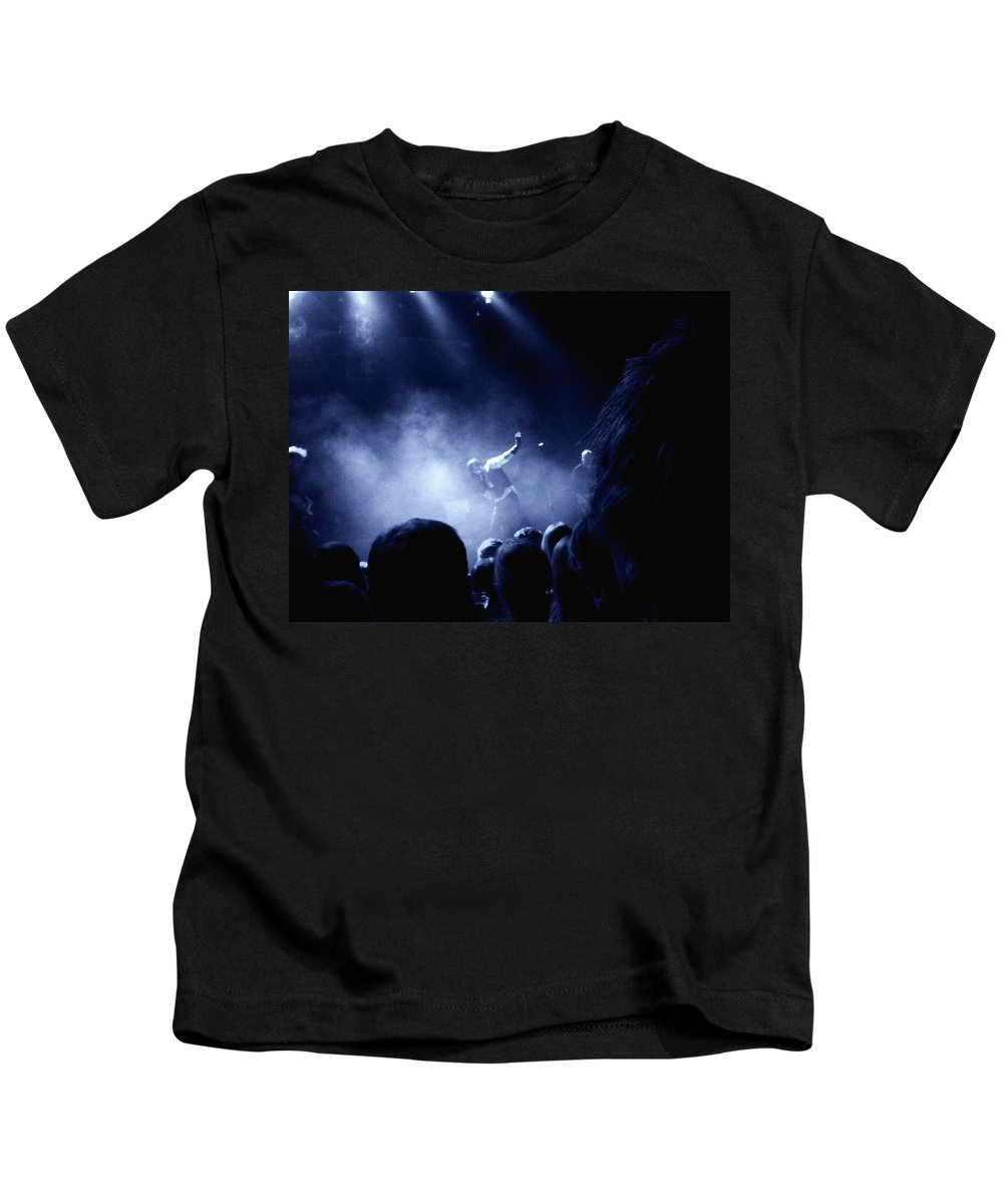 Rock Kids T-Shirt featuring the photograph On Stage by Are Lund