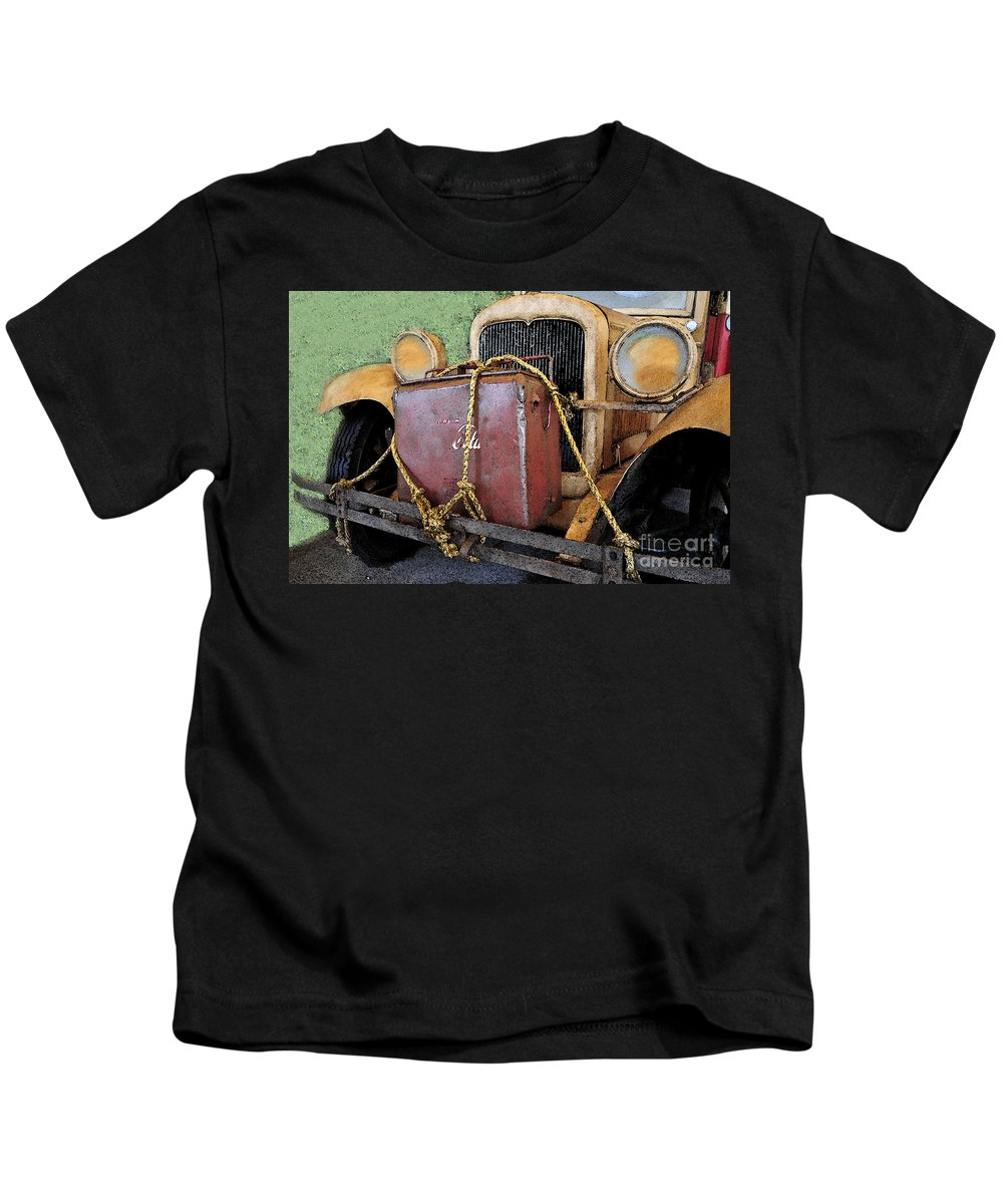 Adventure Kids T-Shirt featuring the painting On The Road To Adventure by David Lee Thompson