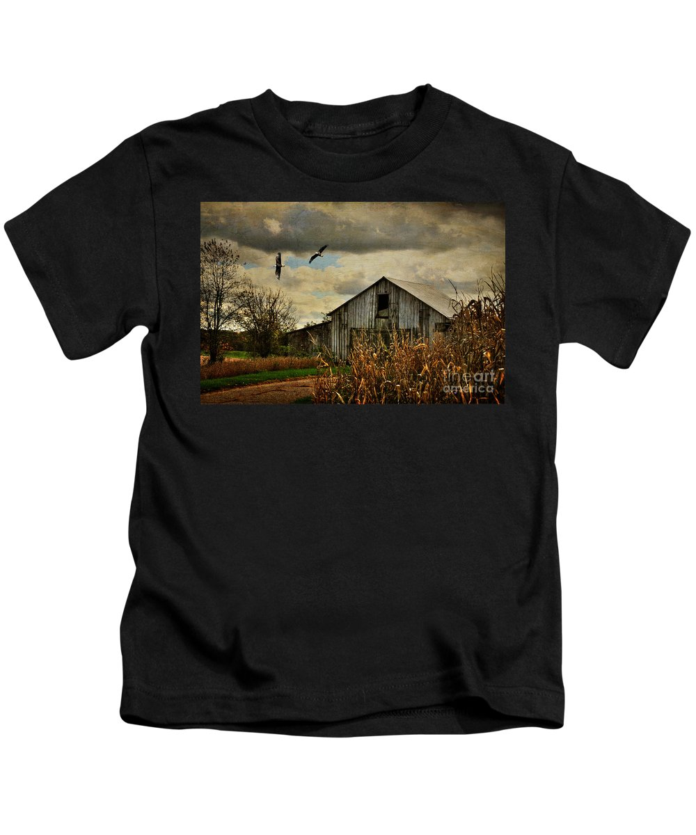 Barn Kids T-Shirt featuring the photograph On The Wings Of Change by Lois Bryan